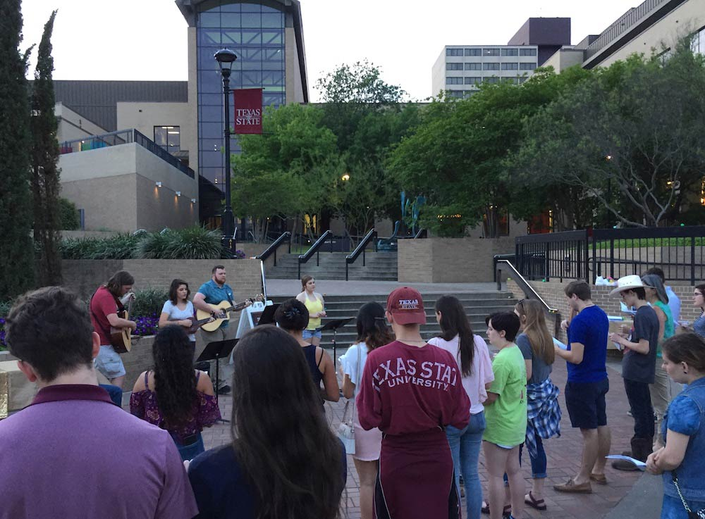 Easter Worship on the campus of Texas State