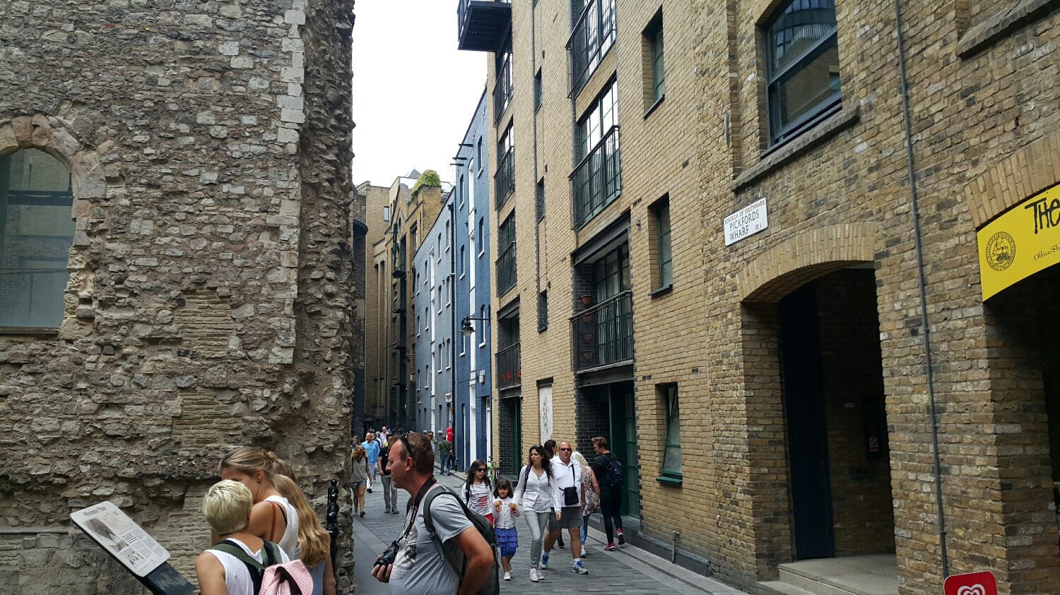 Some very old 16th century buildings on the left and some modern old buildings on the right.  It all looks bloody old!