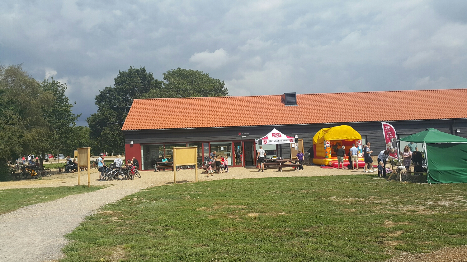 shop and facilities. Bike shop round the back