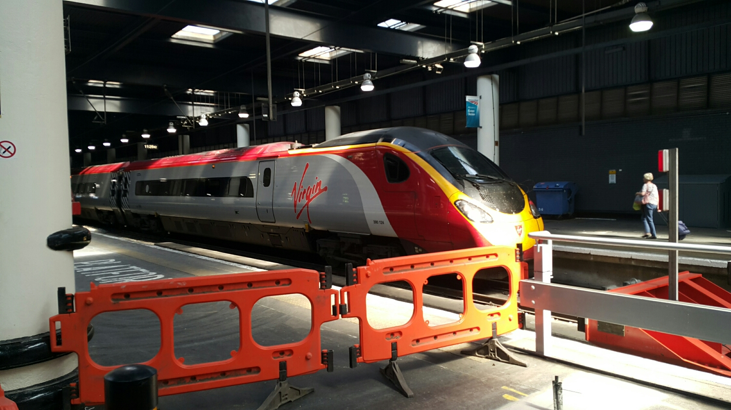 My Virgin train getting ready to wizz me to the North.