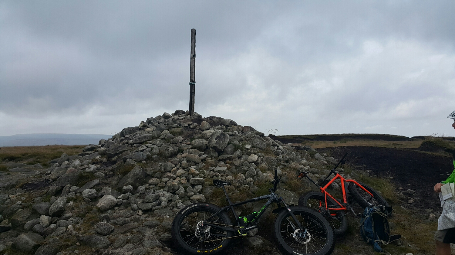 Not sure but this might be the top.  Weather was damp and windy.