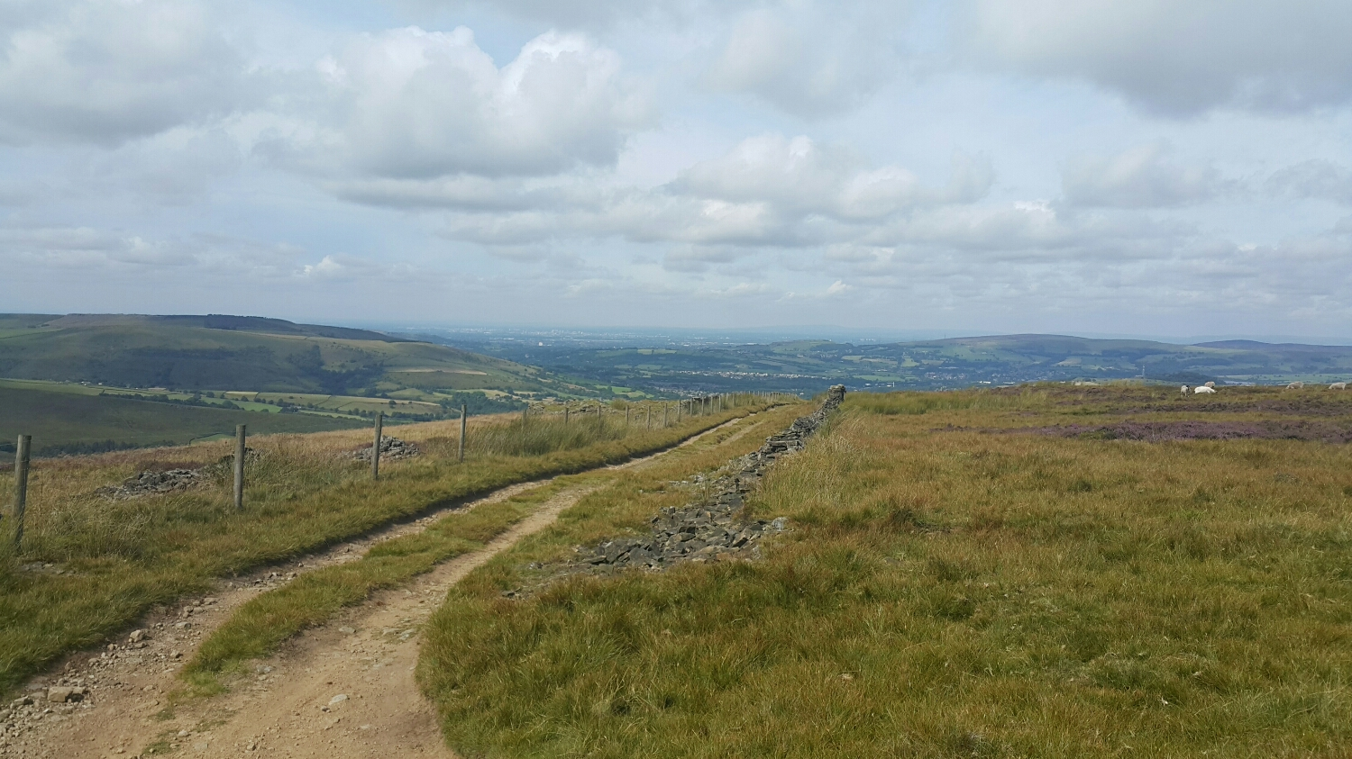 The way up is on a stoney farmers track. Miles and miles of stone fences built with out any mortar.