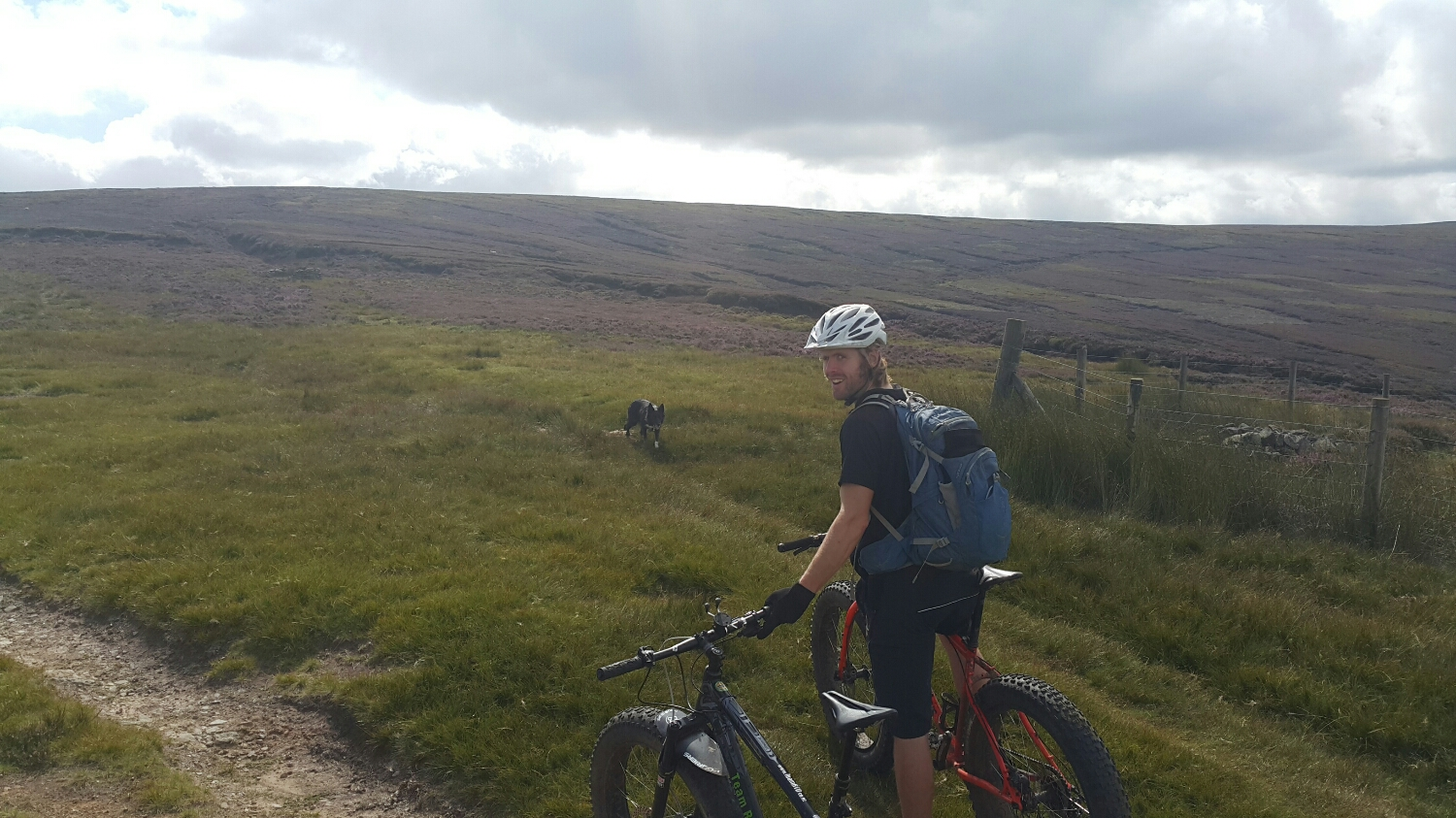 We then turn of the track and make our way up through the peat and heather