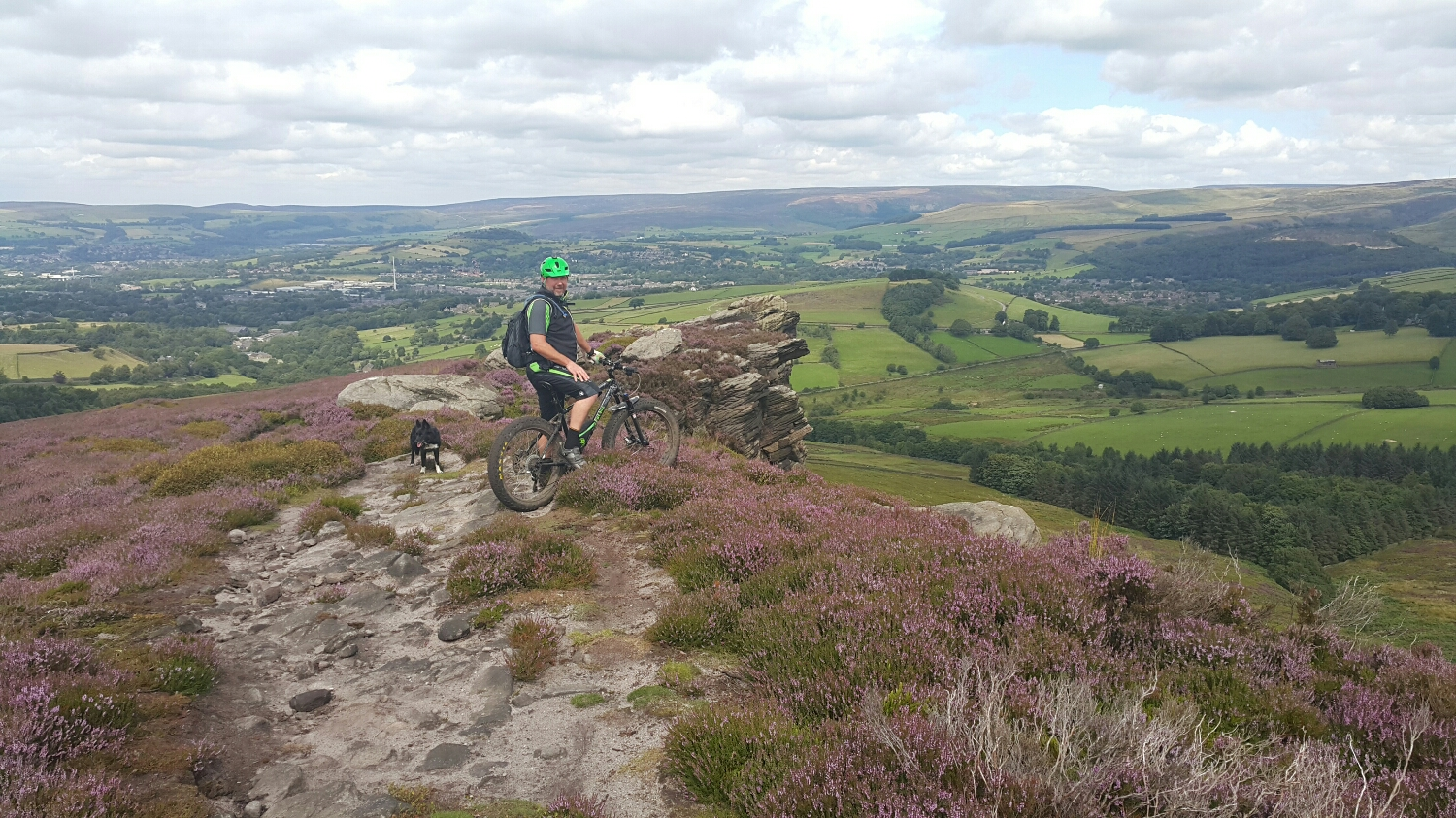 It's rocky sand stone or peat! View back over Glossip on the way down