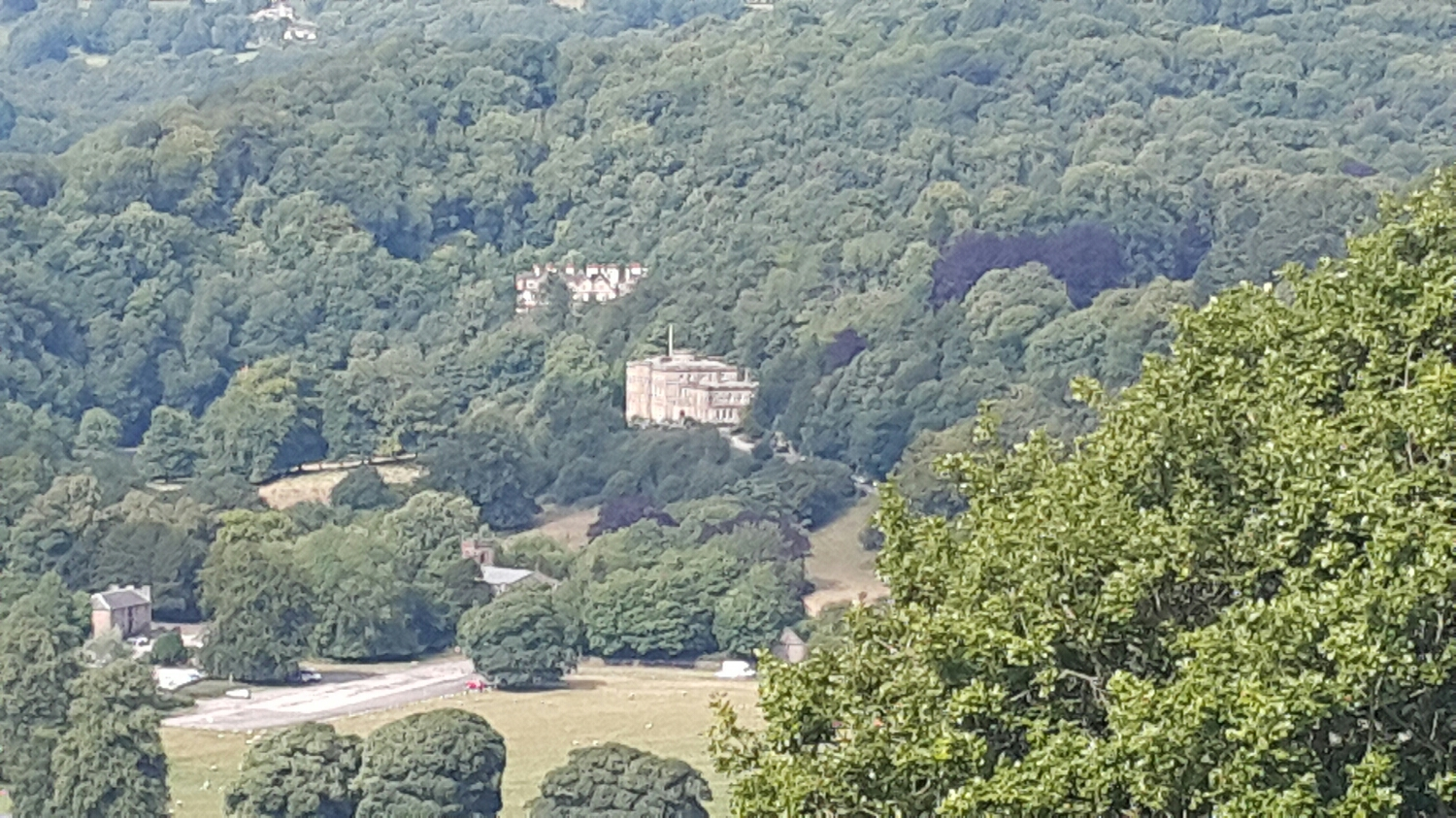 Looking down into the Valley and this massive house.