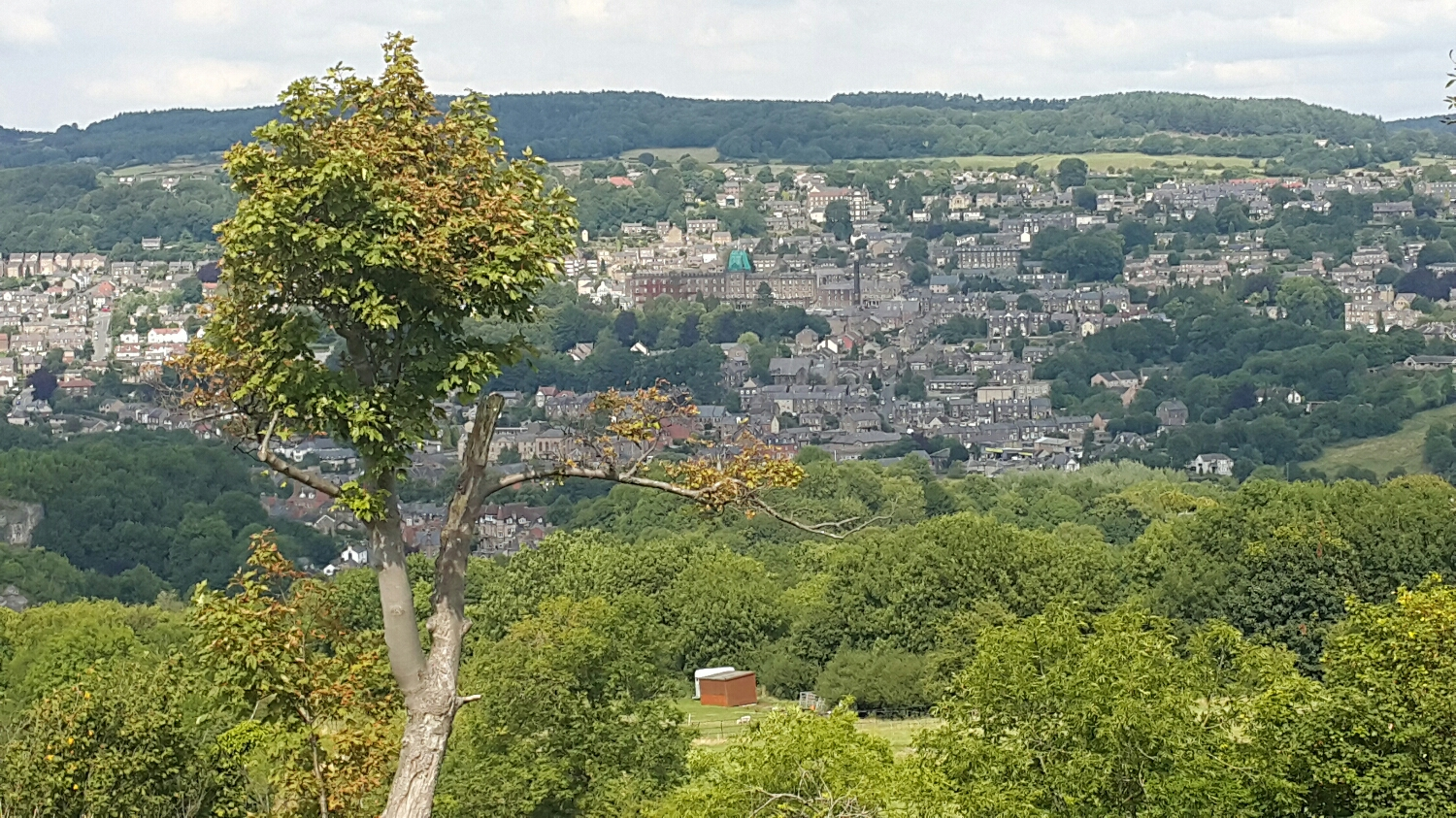 A view down over Matlock