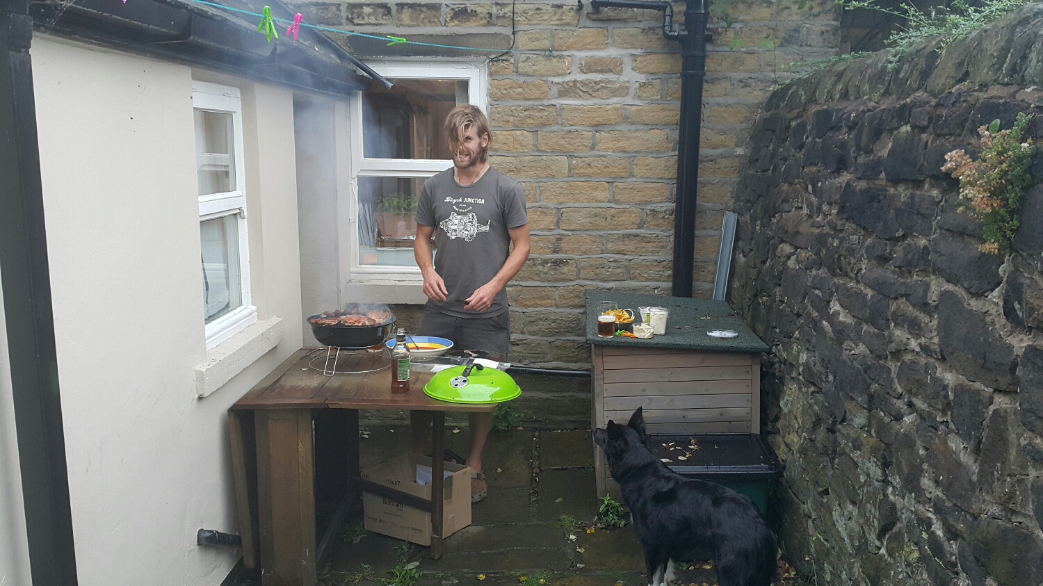 BBQ at Petes for tea when we got home.