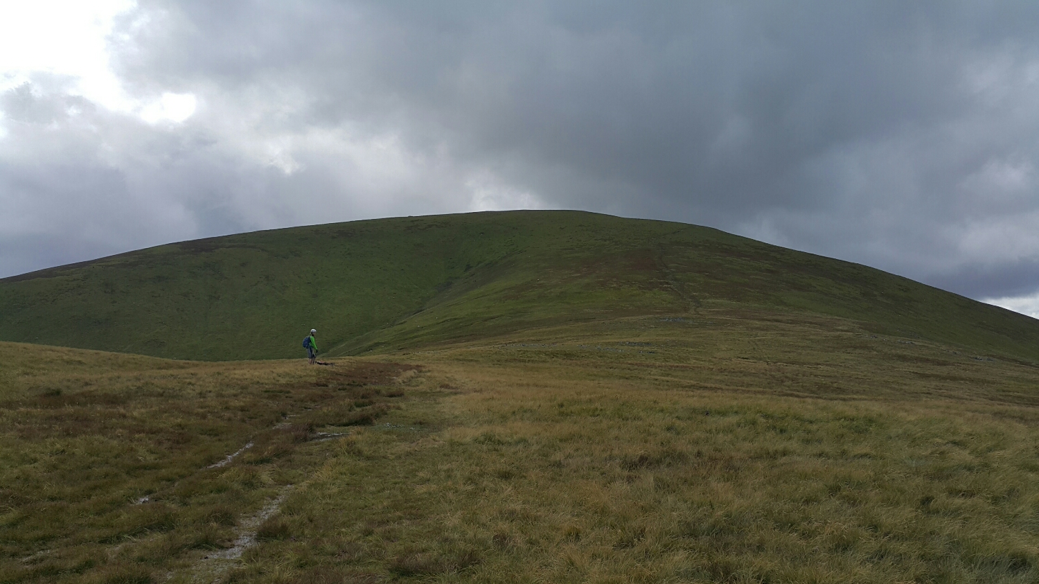 Still a way to go to the top of the Dodd.