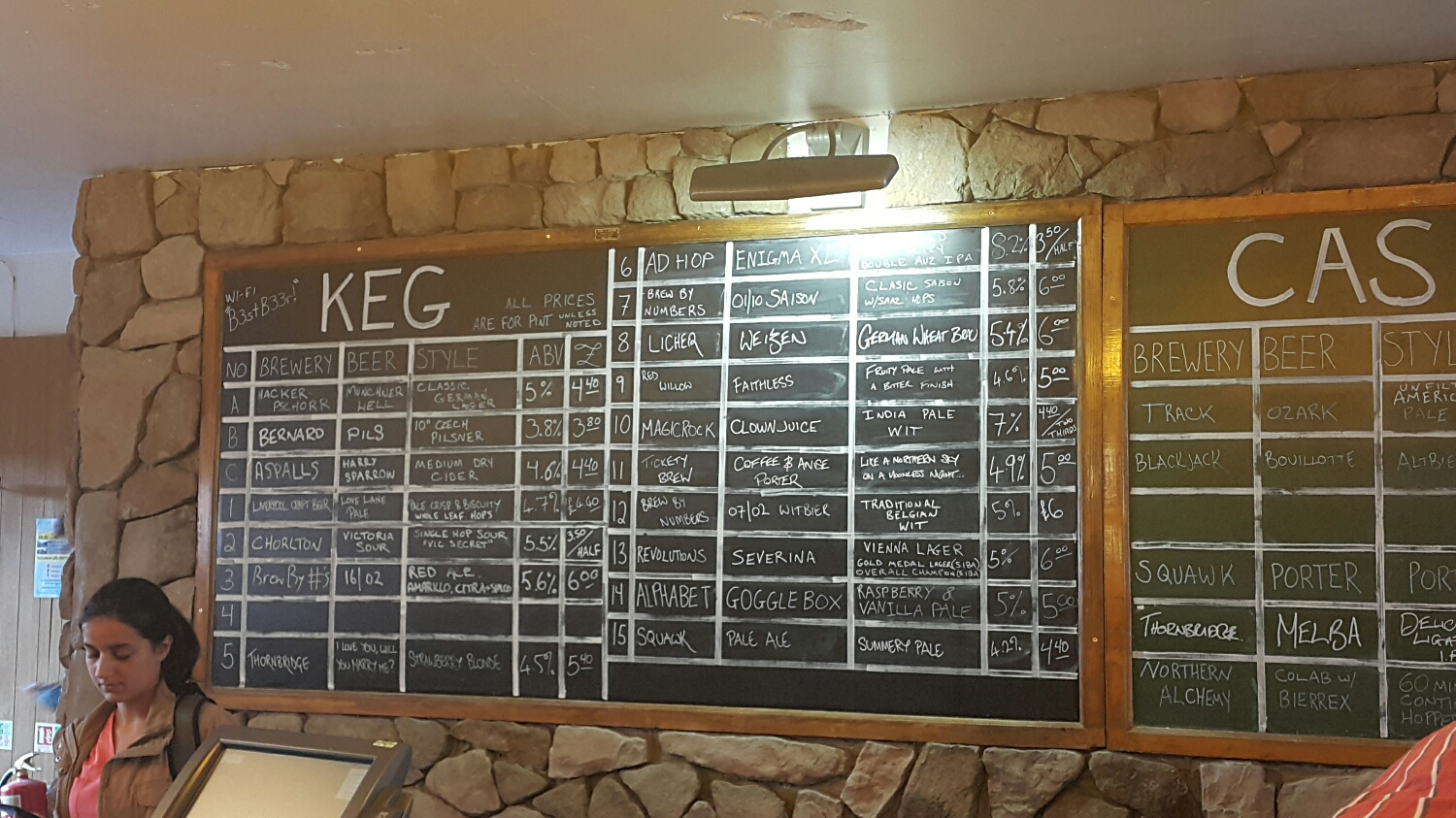 A black board full of sweet tastings