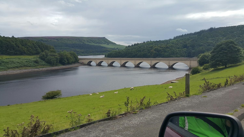 Down stream on Lady bower dam