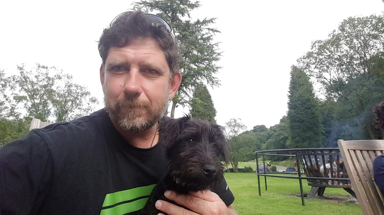 This is Dodds. Lakeland terrier pup