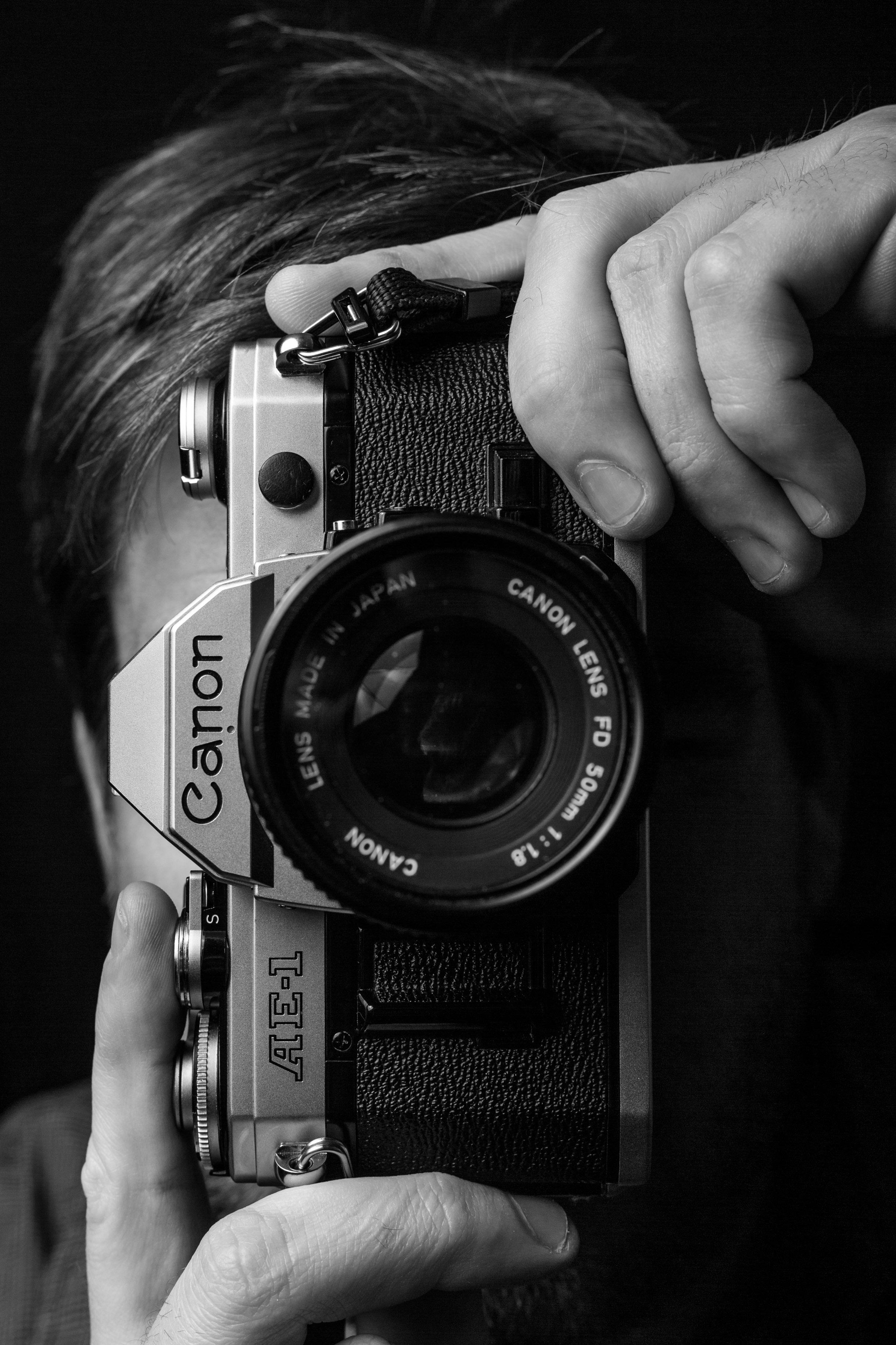 Black and White Canon AE-1