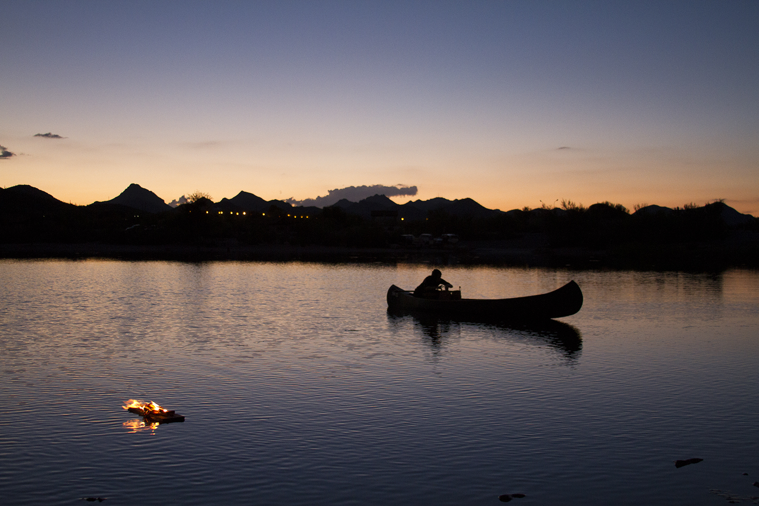 Ali Beletic Canoe Fire