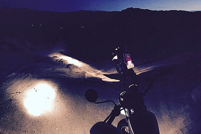 Night Ride. Taking a break to connect with nature, the vanguard and the infinite. Joshua Tree, CA