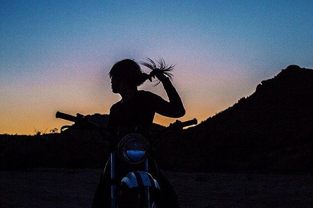 Taking a night ride. Joshua Tree, CA