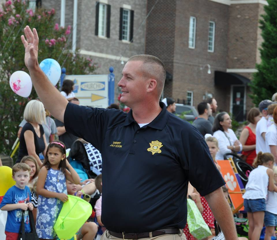 Sheriff Jay Koon will be the parade Grand Marshal and 11 a.m. program speaker for this year's Peach Festival.