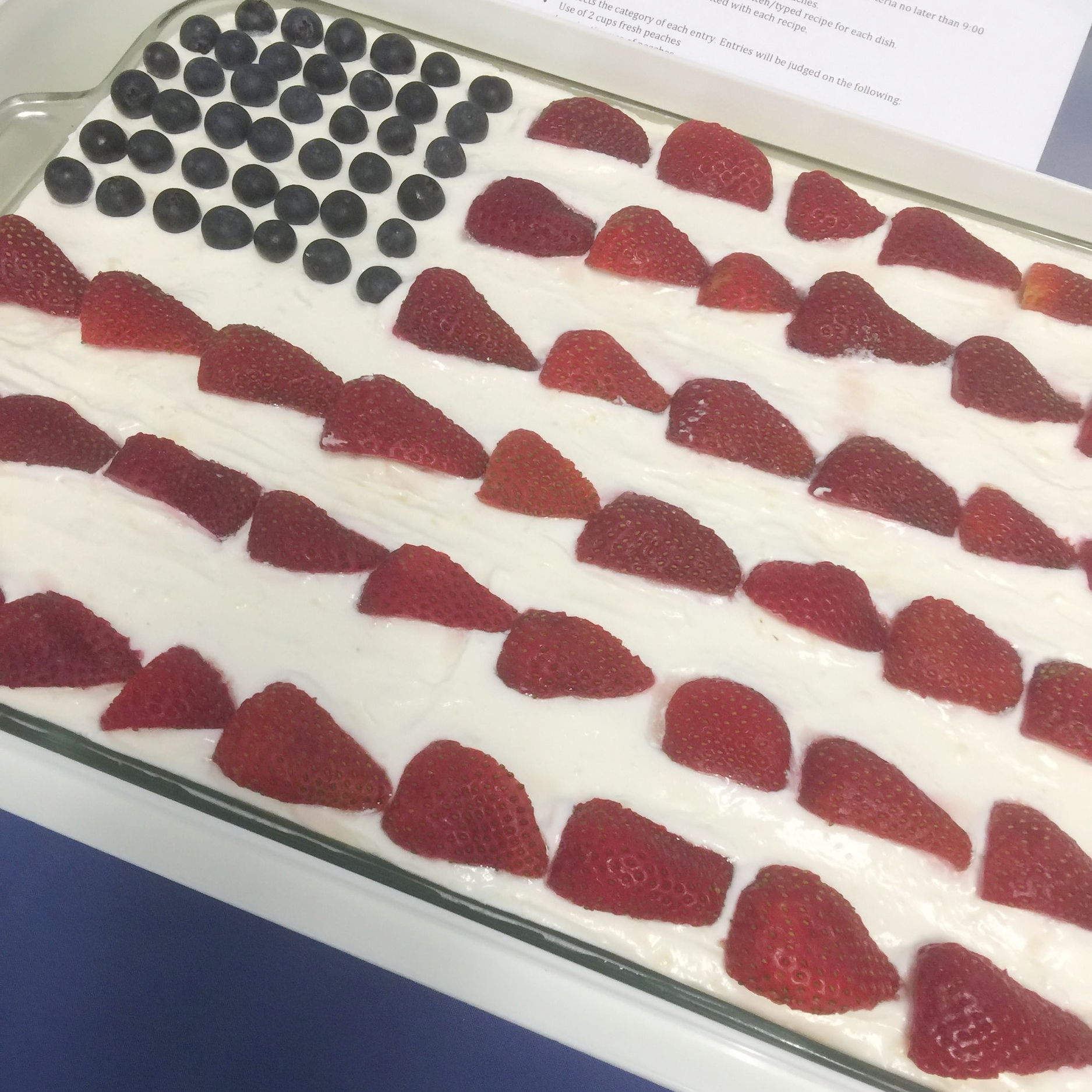 2017 2nd Place Dessert - Berry Peach Patriotic Icebox Cake