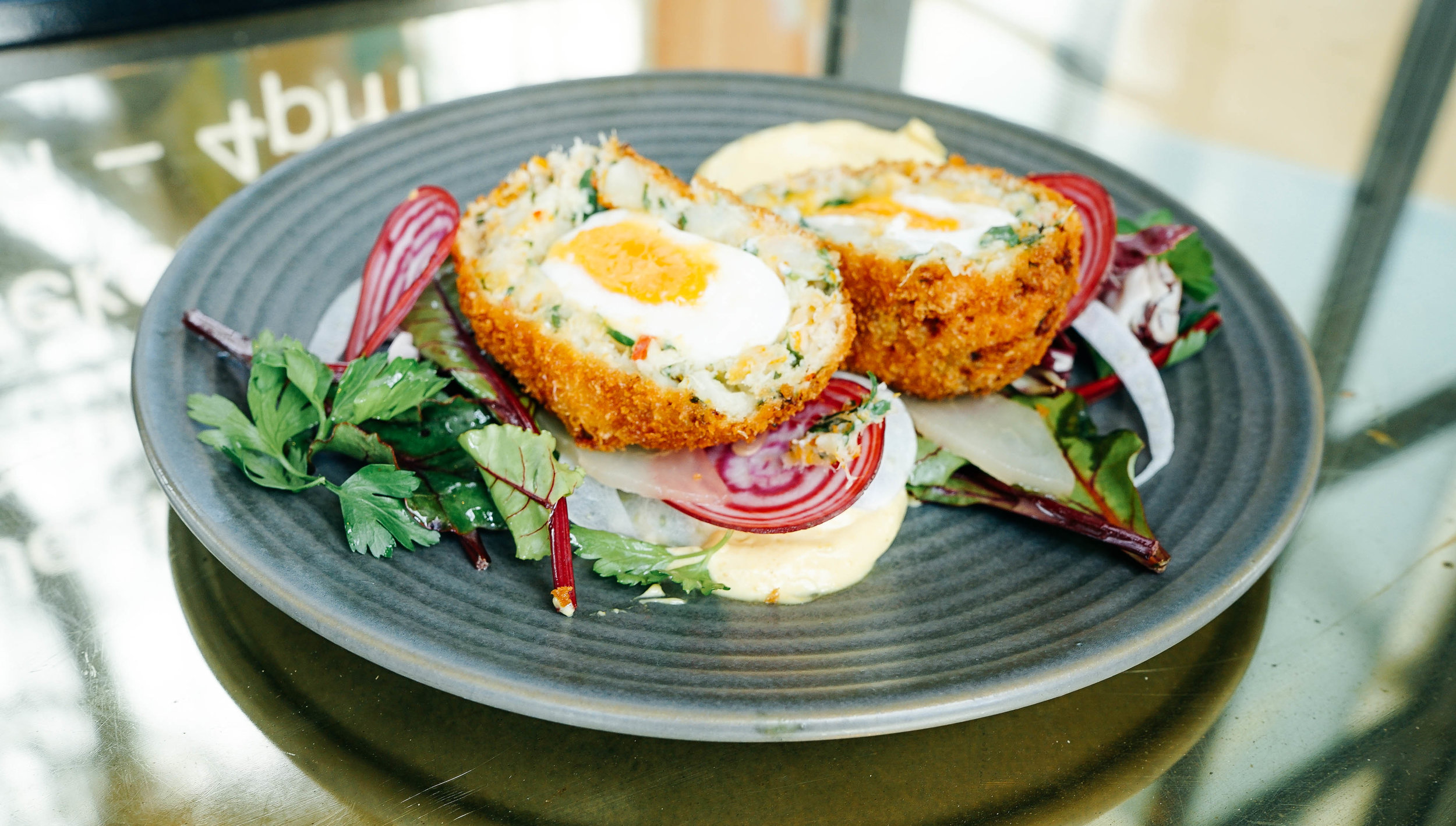 Fish Cake Scotch Egg   $18