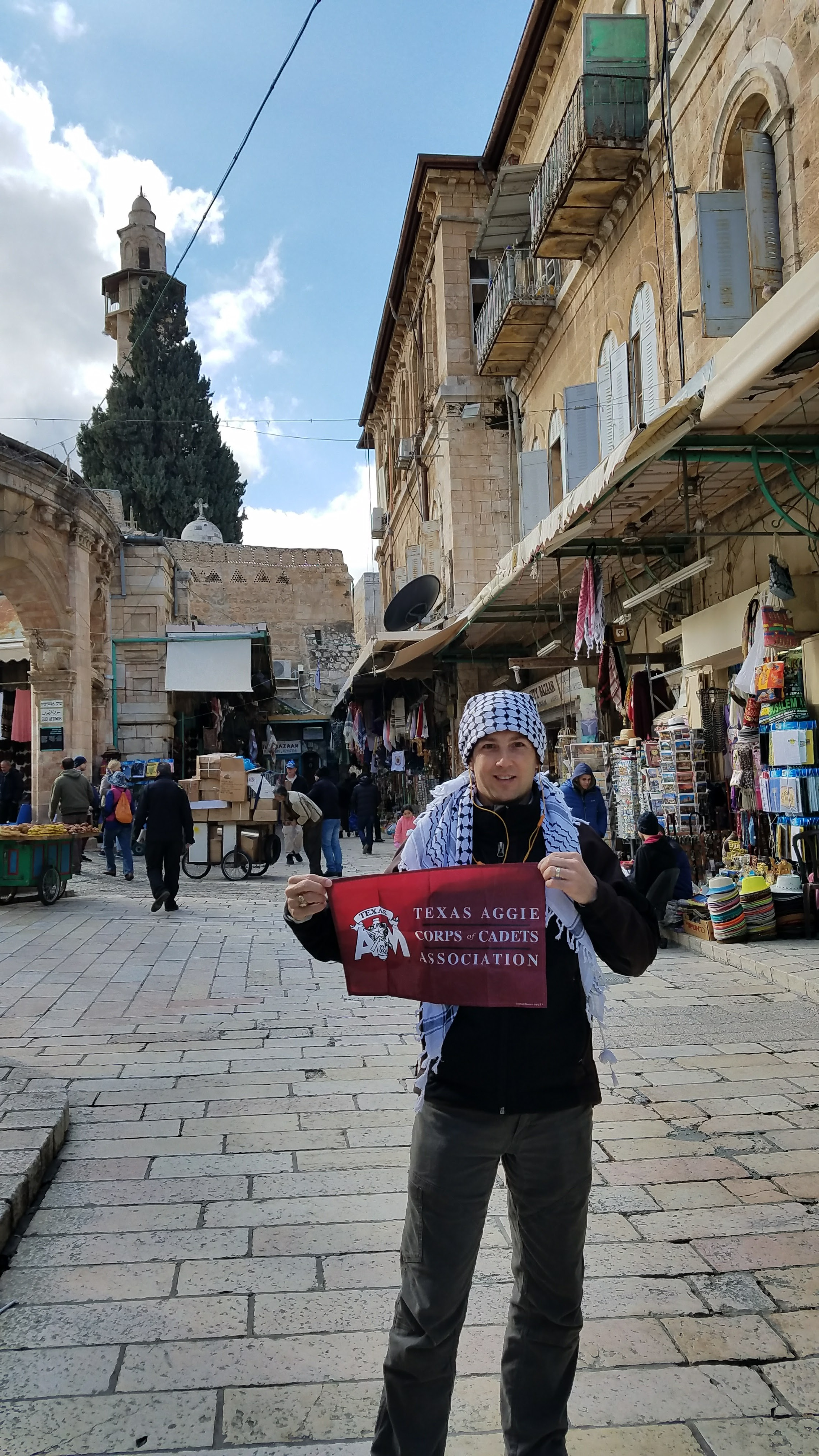 Eric Wylie '93 in the market in Jerusalem on a weeklong trip to Israel, Spring 2018.jpg
