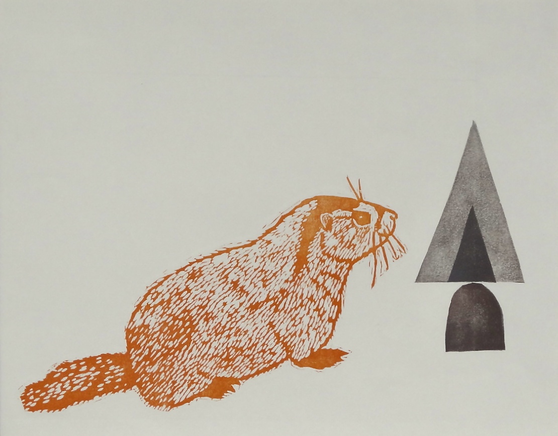 Animal and Shape Series  woodcut and linocut 14 x 11 inches 2015