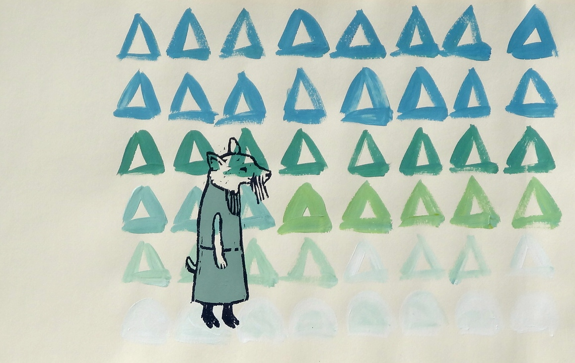 Characters II Series  woodcut and silkscreen 15 x 9 inches 2014 - present