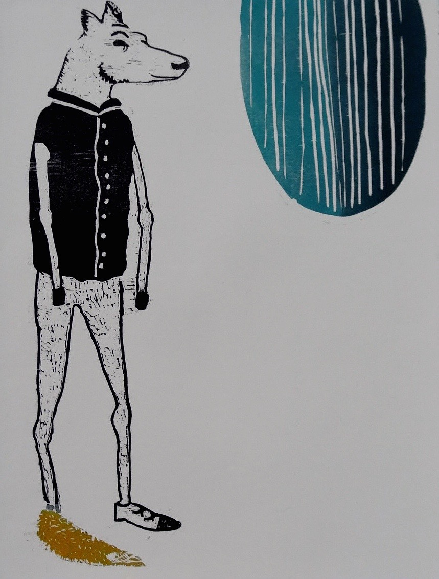 Characters I Series  woodcut 22 x 30 inches 2012