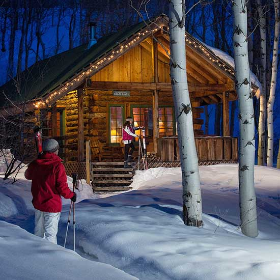 One of the charming cabins on property. (Photo credit: The Home Ranch)