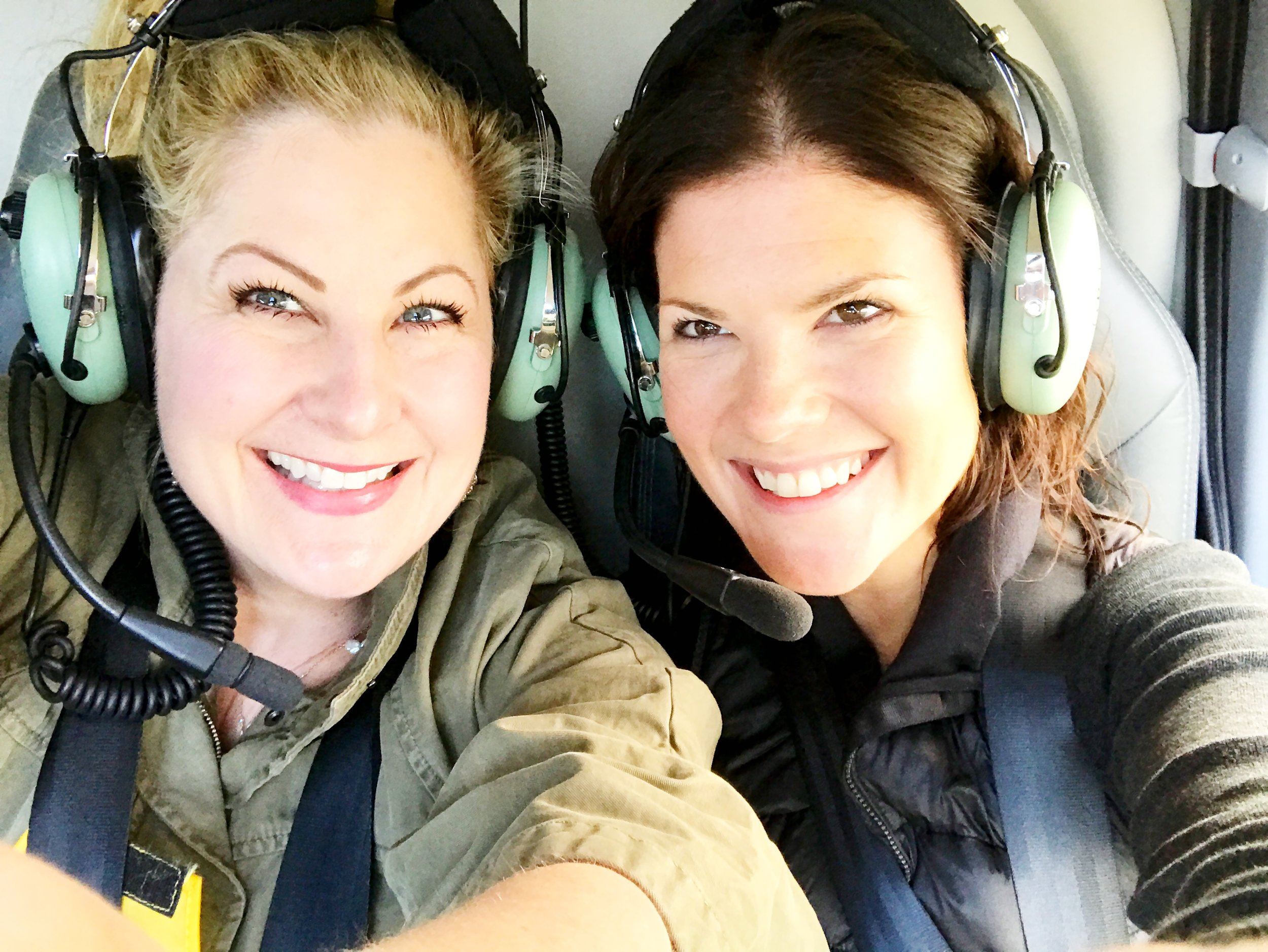 By   helicopter   is a fabulous way to see the Great Ocean Road. This darling person next to me is the Marketing Manager of Visit Victoria. Working closely with Carolyn helps me to give you an enhanced experience.