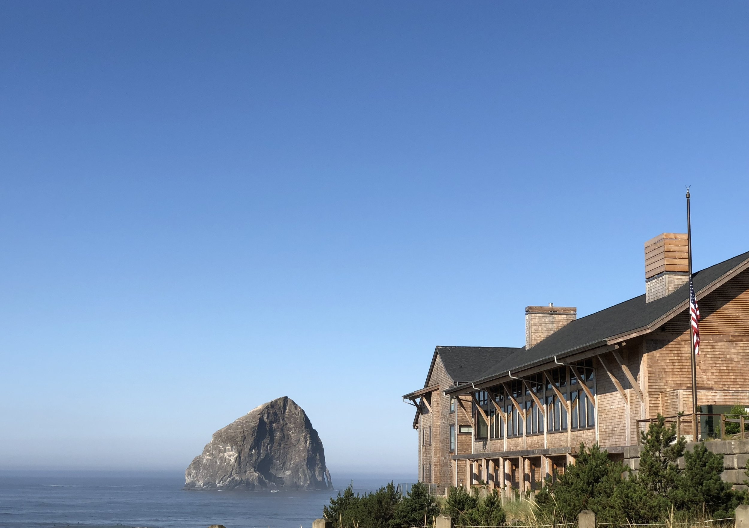 Designed to make the most of the special spot on the Oregon Coast. Each of their 33 Oceanfront Lodge guest rooms have a view of the ocean and Pacific City's dramatic Haystack Rock—with a private balcony or patio from which to enjoy it. Eighteen spacious Oceanfront Cottages accommodate families.