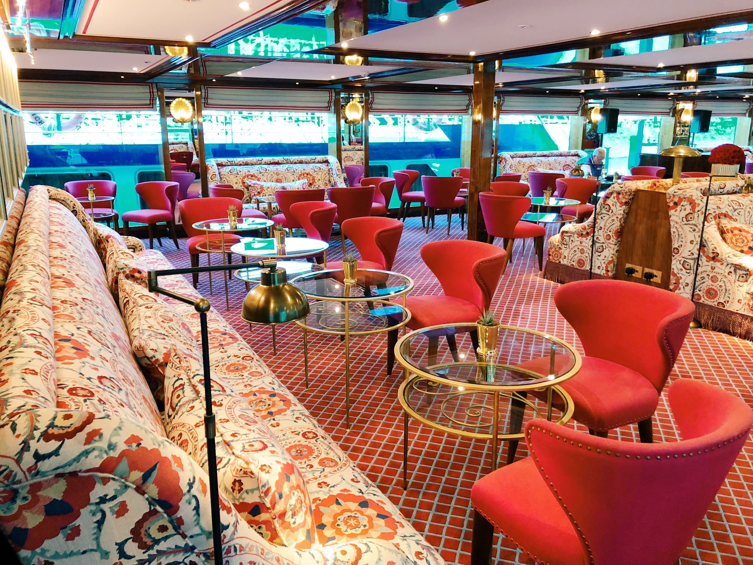SS Joie de Vivre;  You can take the girl out of Paris, but you cannot take Paris out of the girl.   This gorgeous ship is a floating boutique hotel with fresh flowers and greens among its beautiful details.