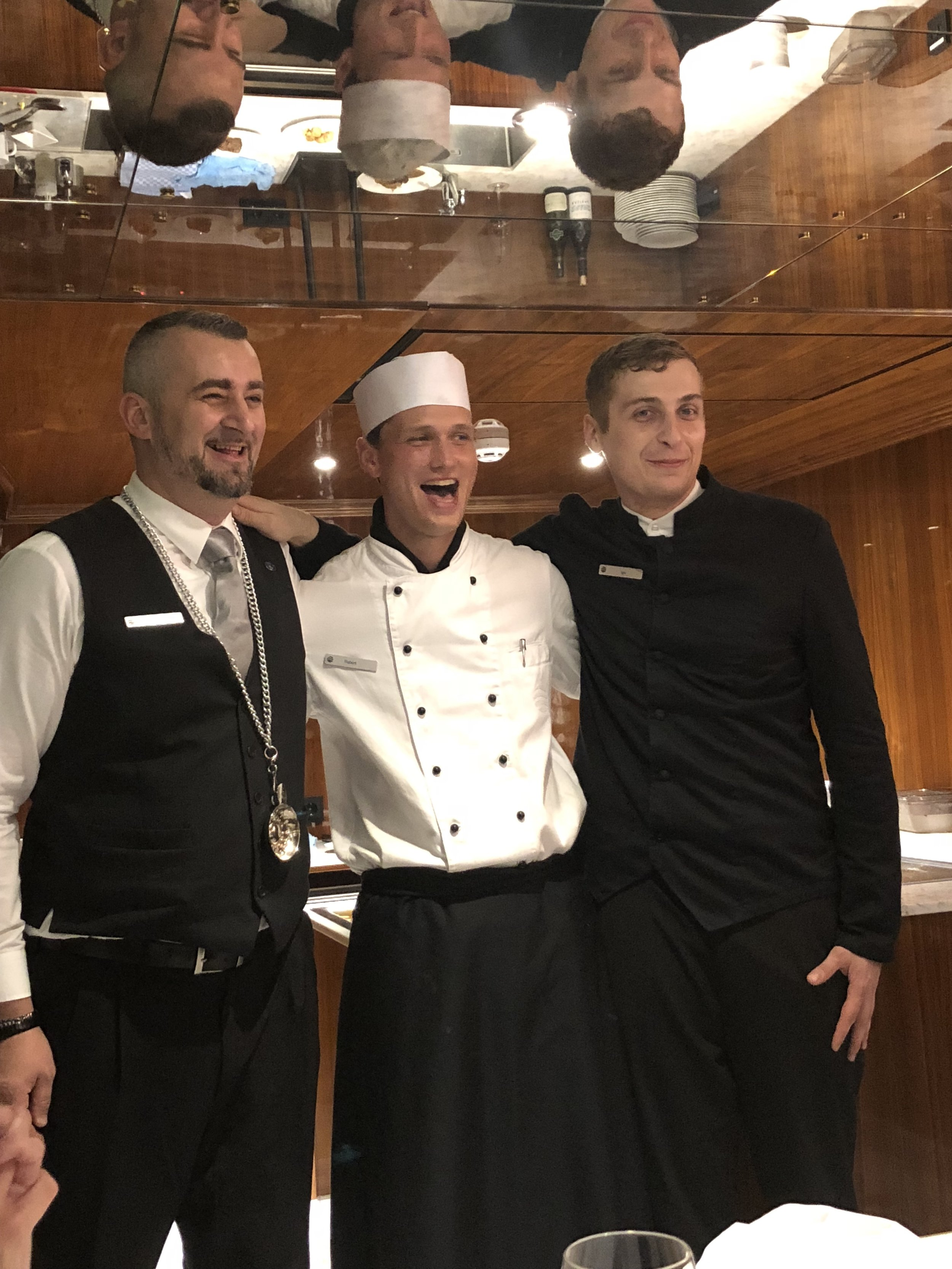 Our private dinner onboard in the Caves des Vins was made all the more special by all of this cuteness! You can tell the staff loves what they do. And that means the guests love the experience.