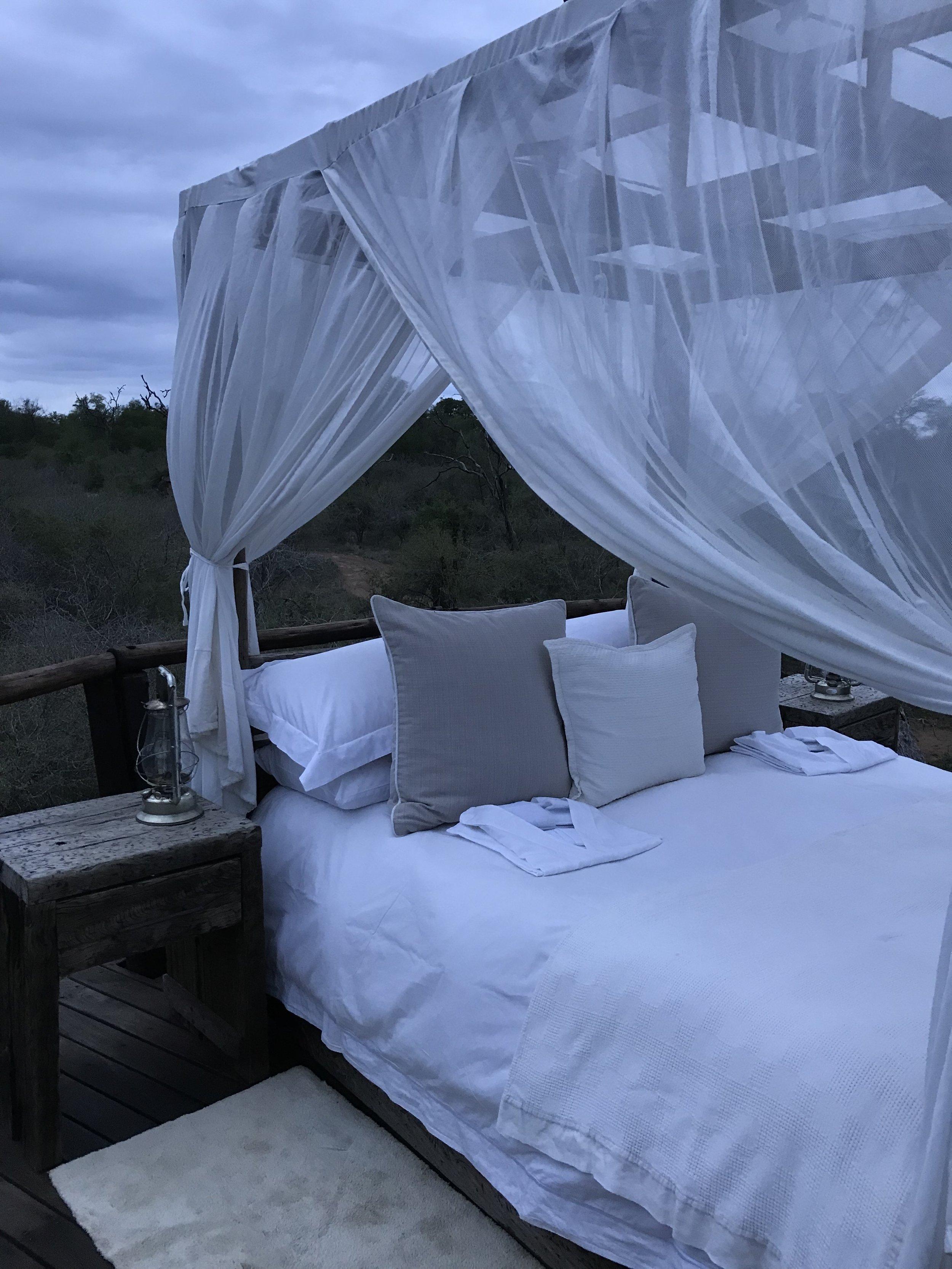 And... Sleep outside!