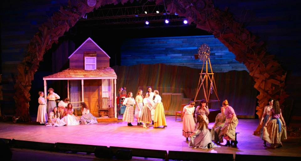 This is a picture from a recent rendition of the hit musical, Oklahoma.