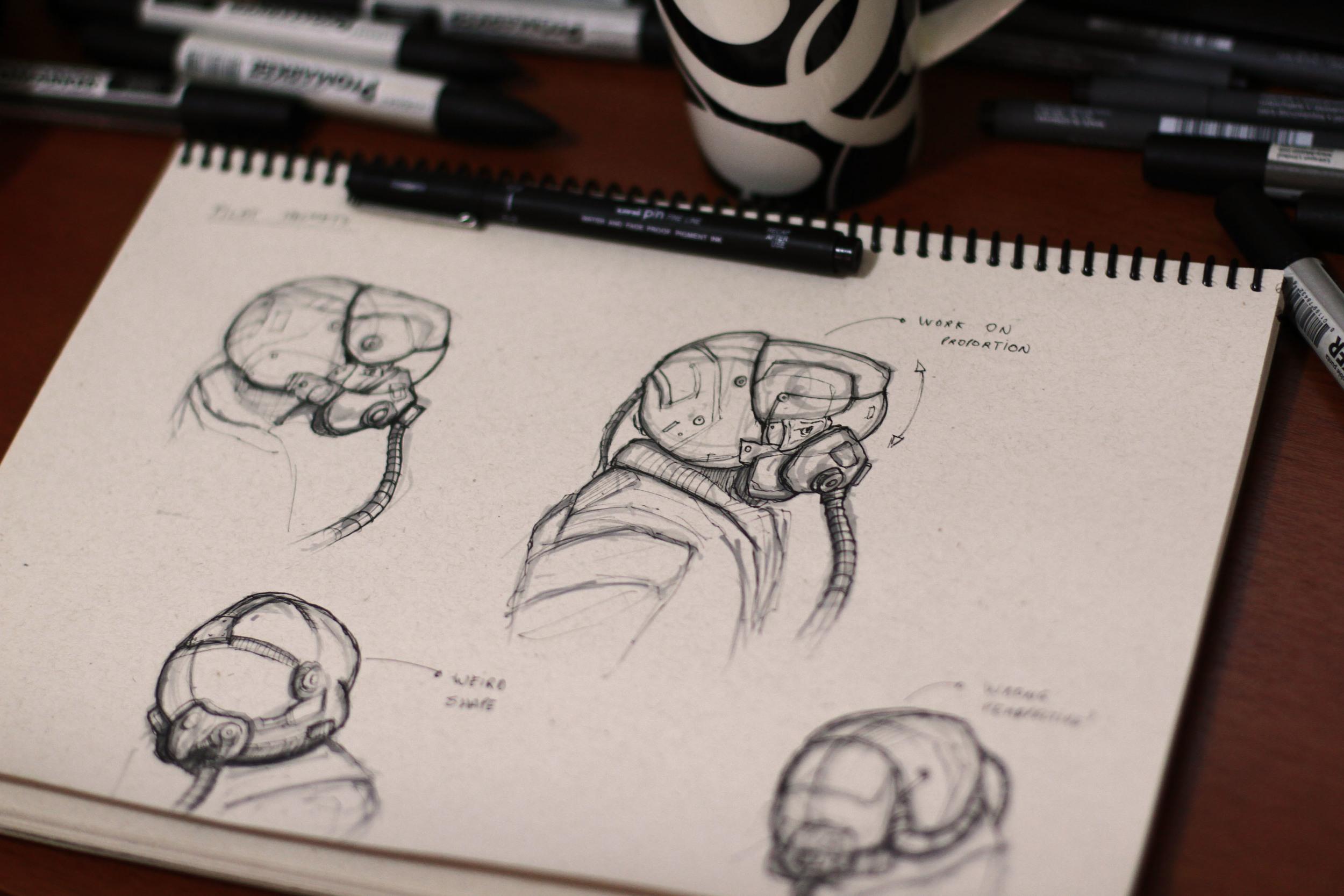 Helmet studies