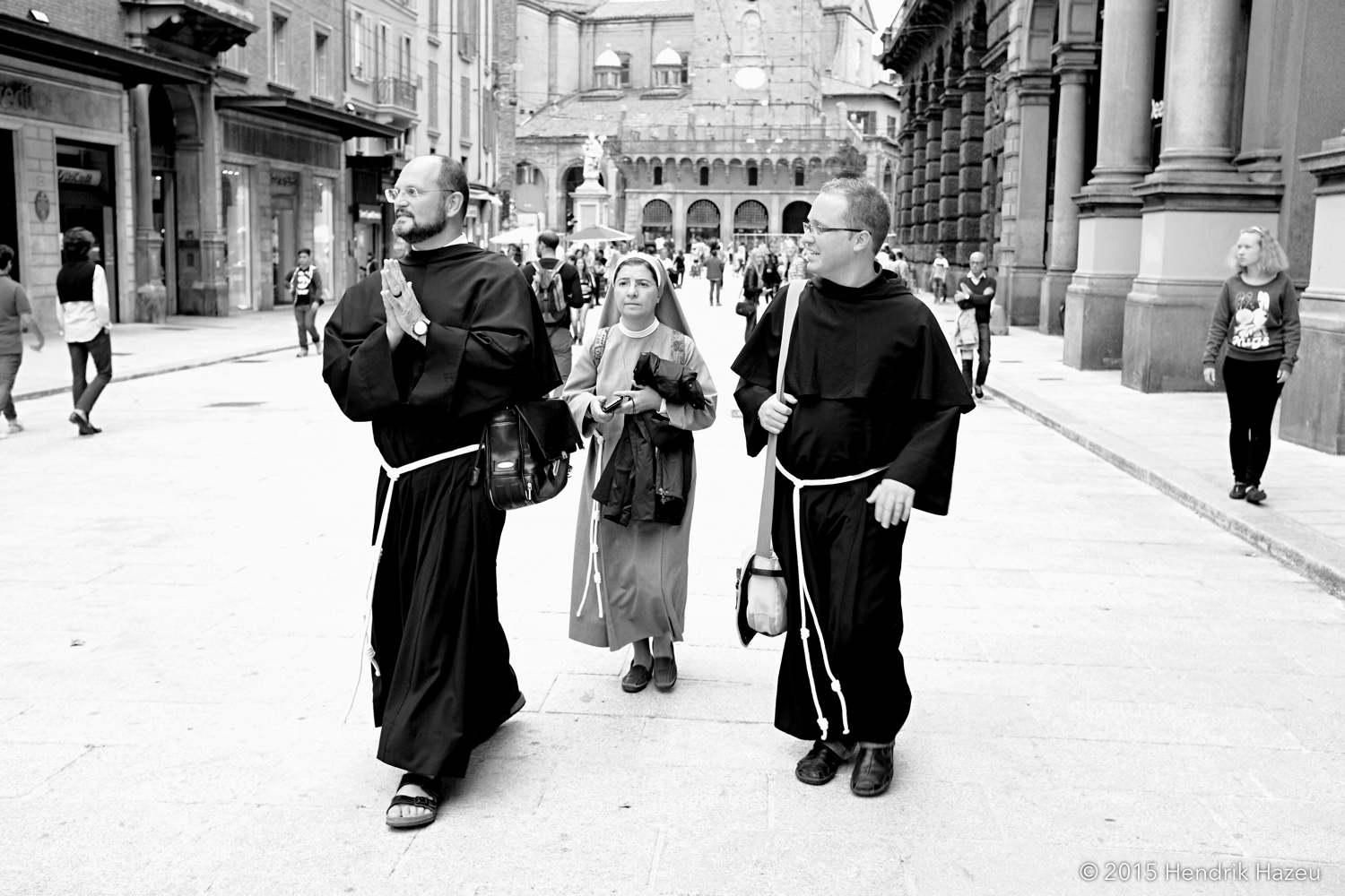 Holy walk in Bologna