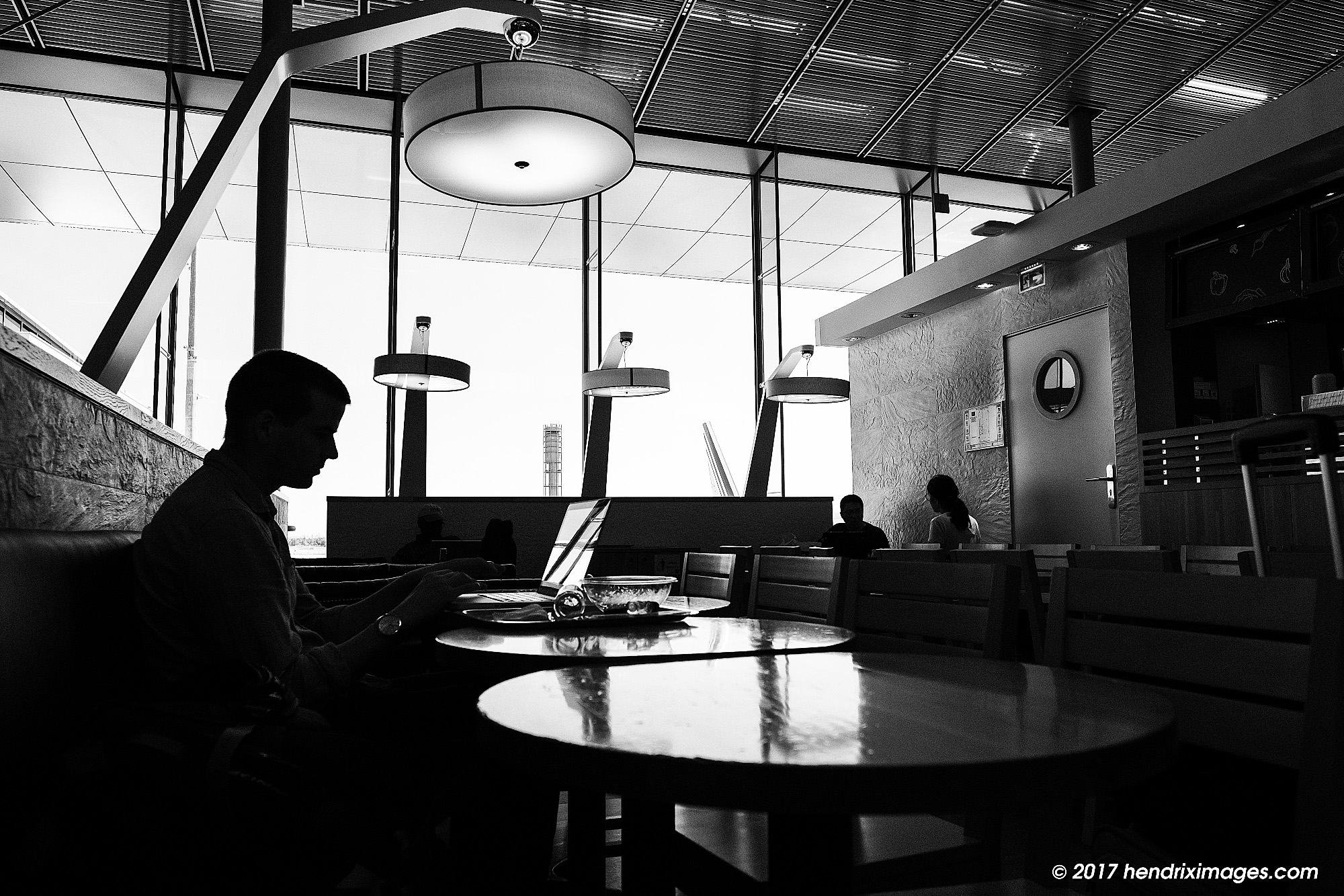 Waiting at the Airport, seen with Fuji X-Pro2 and XF 16 mm f1.4 WR,SOOC ACROS JPEG