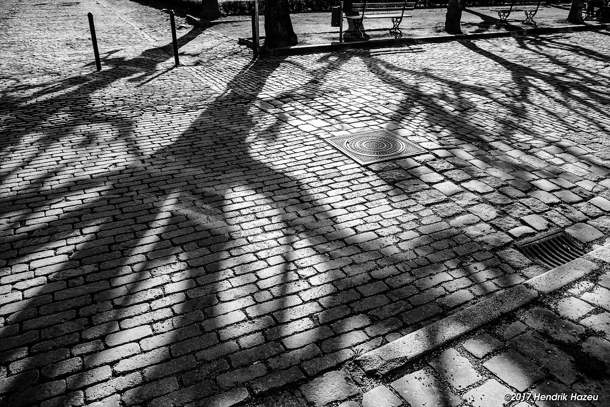 Shadows on the street, Fuji X-T2, with XF 18-135 mm WR at 18 mm - f5.6 - 1/950 sec - ISO 400