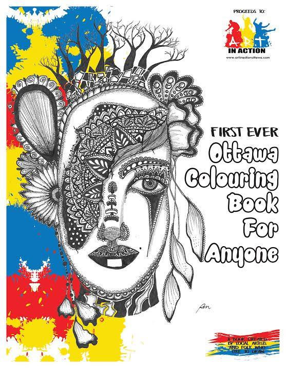 ottawa first ever colouring book for anyone, art and mental health ottawa