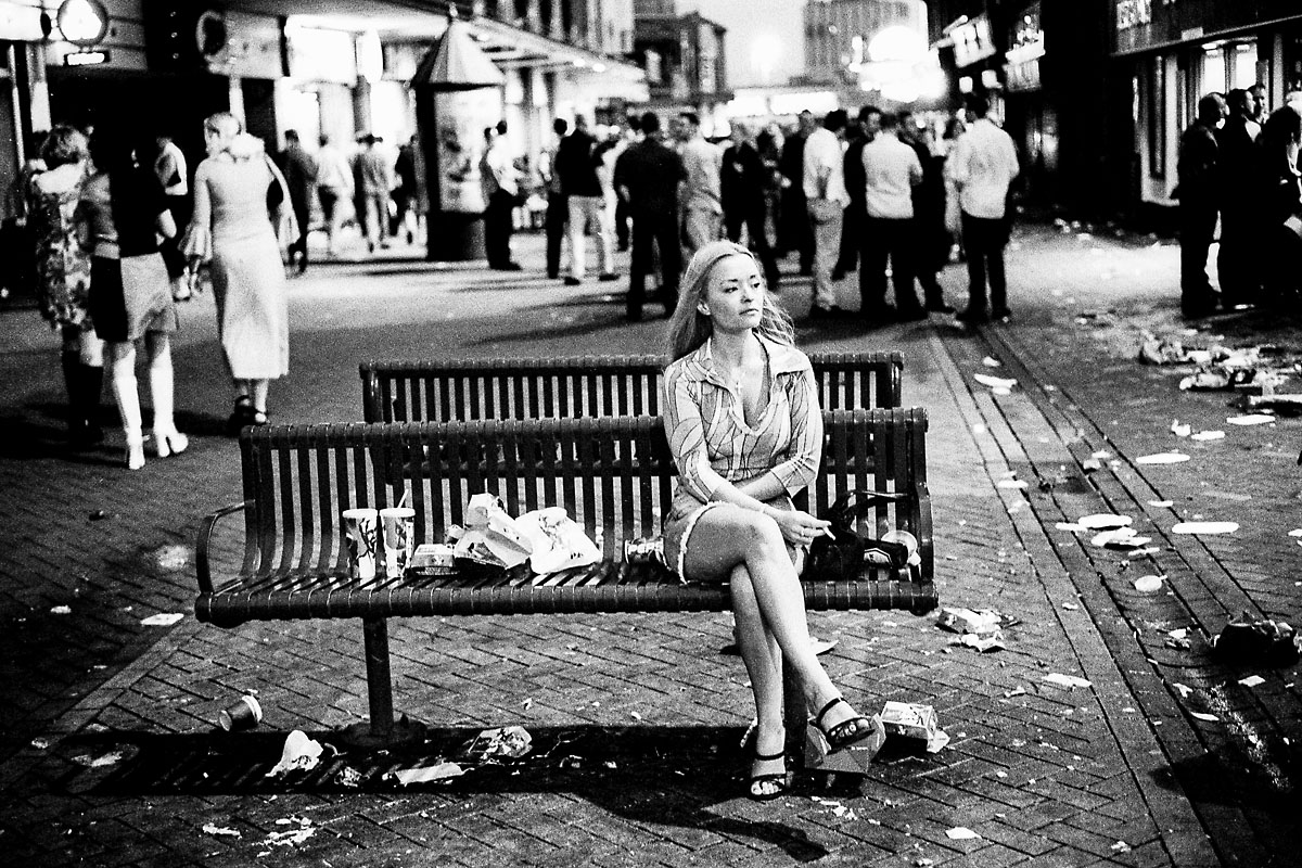 Girl on bench, Blackpool
