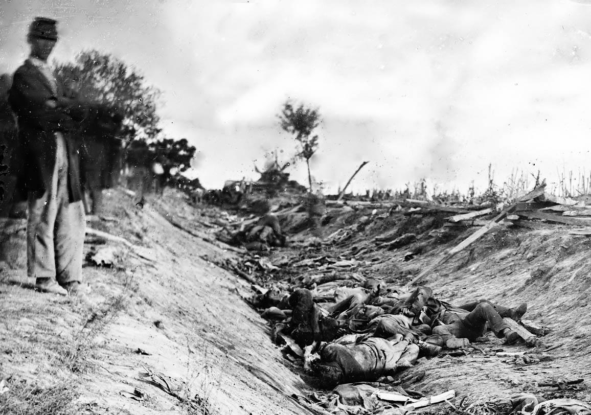 Matthew Brady's image from the Battle of Antietam, Sharpsburg, Maryland,September, 17th 1862