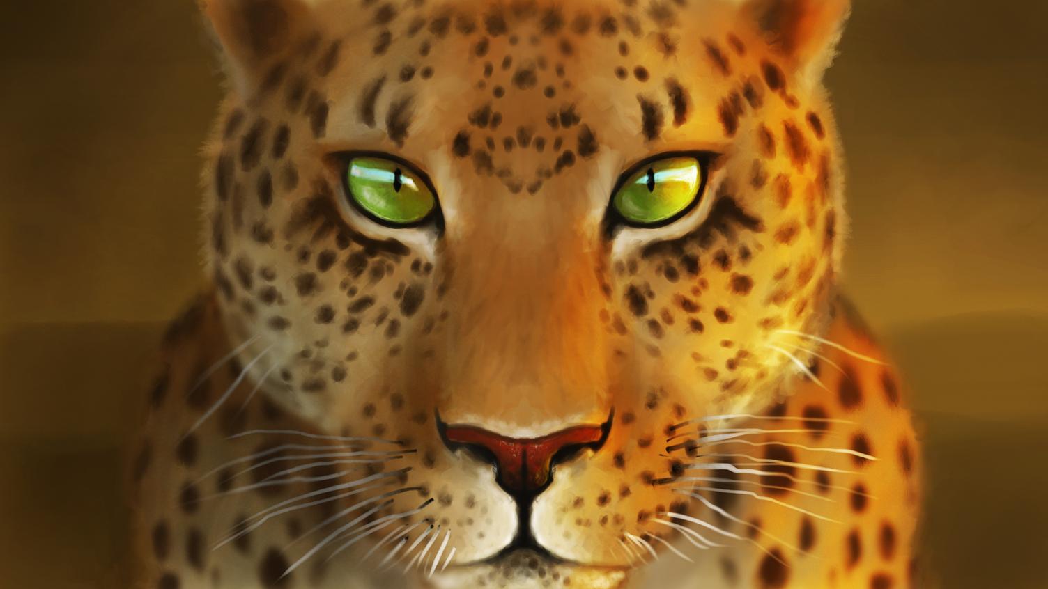 Green Eyes - Painting Timelapse — blendtuts com