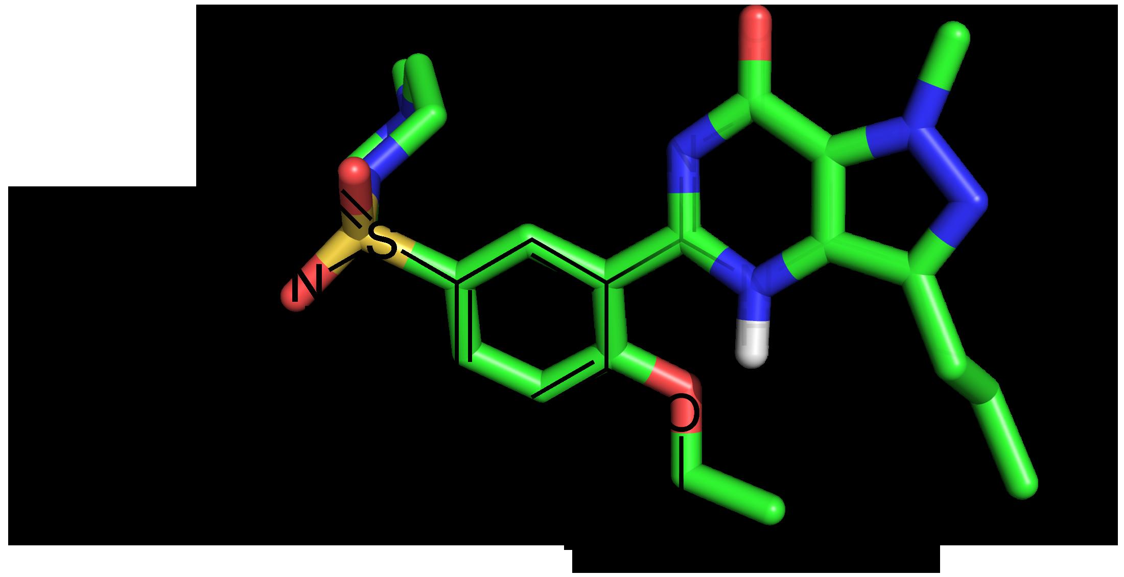 Figure 1. A fused 2D/3D structure of Sildenafil