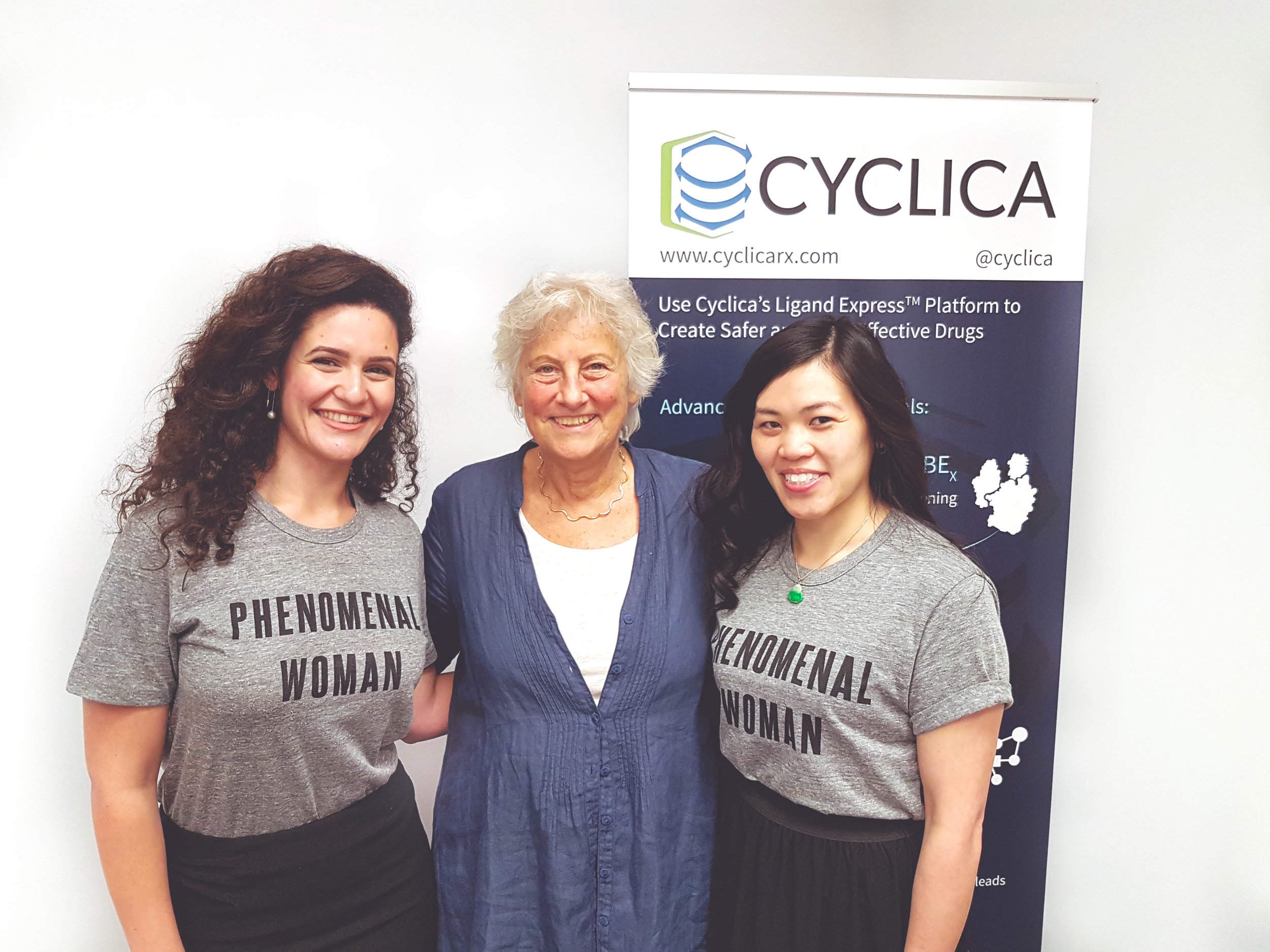 """From left to right: Sana Alwash, Shoshana Wodak, and Sonia Seto. """"Phenomenal Women"""" t-shirts were purchased from  Omaze , an online fundraising platform supporting critical causes. Proceeds were donated to Seven Fearless Women's Organizations."""