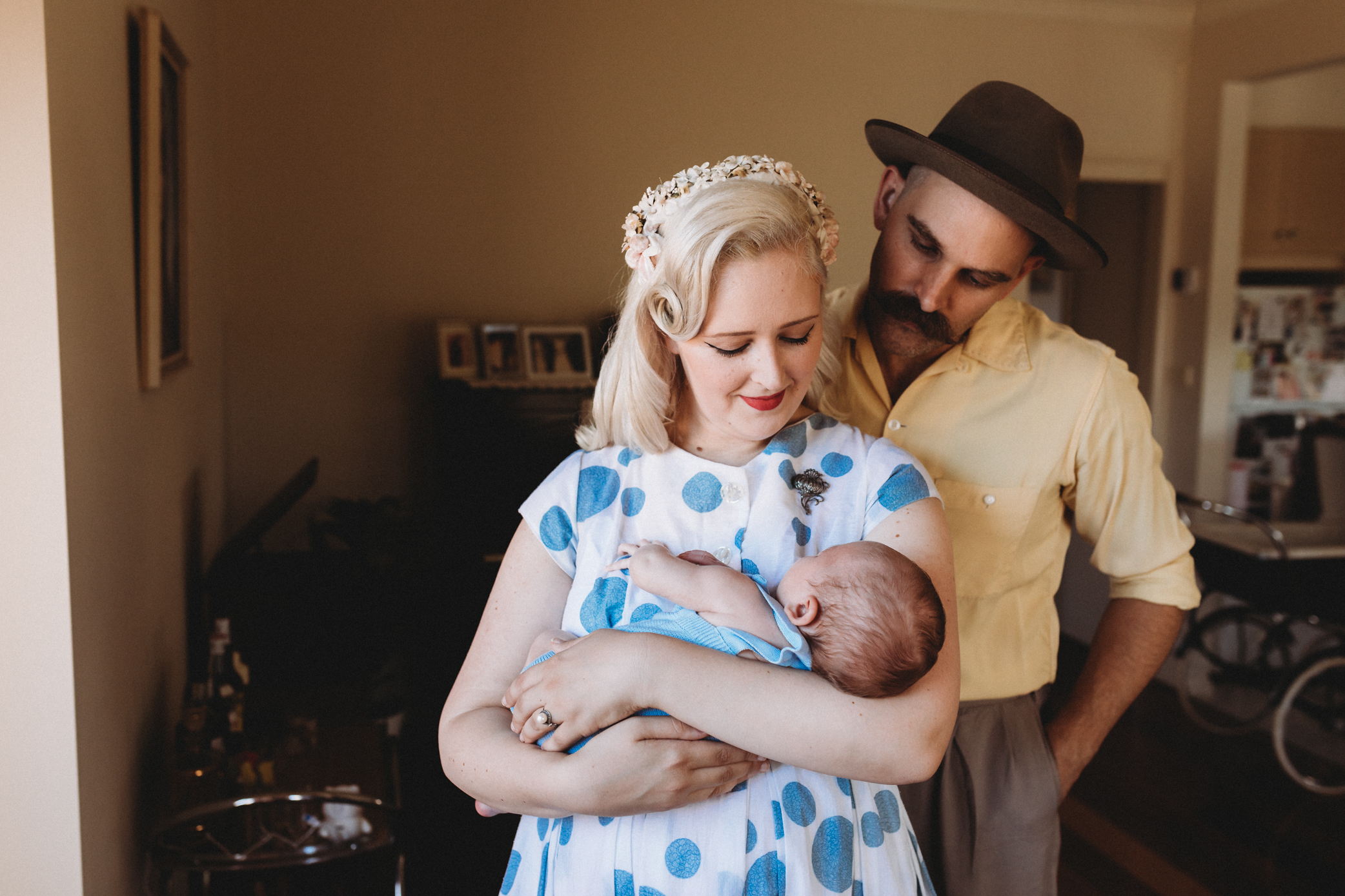 1950's style NEWBORN SESSION in Geelong