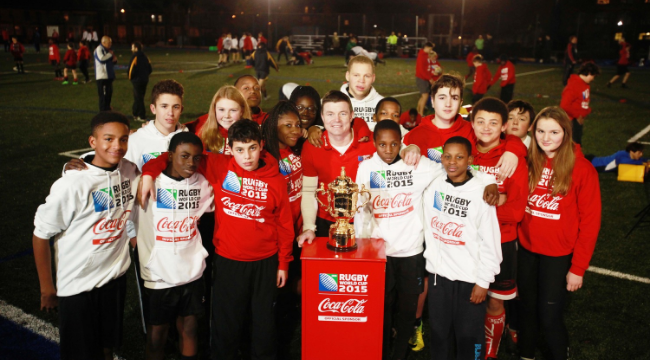 Pr Shoot - Coca-Cola PR Shoot 16/12/2014 - Petchey Academy, Shacklewell Lane, London E8 2EY - 16/12/14Brian O'Driscoll - Coca Cola Ambassador for the Rugby World Cup 2015Mandatory Credit: Action Images / John MarshLivepicEDITORIAL USE ONLY.