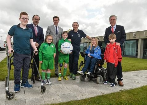 Republic of Ireland manager Martin O'Neill with FAI Chief Executive John Delaney and from left during the Tetrarch FAI Sponsor Photocall in the FAI, National Sports Campus, Abbotstown, Dublin. Photo by David Maher/Sportsfile