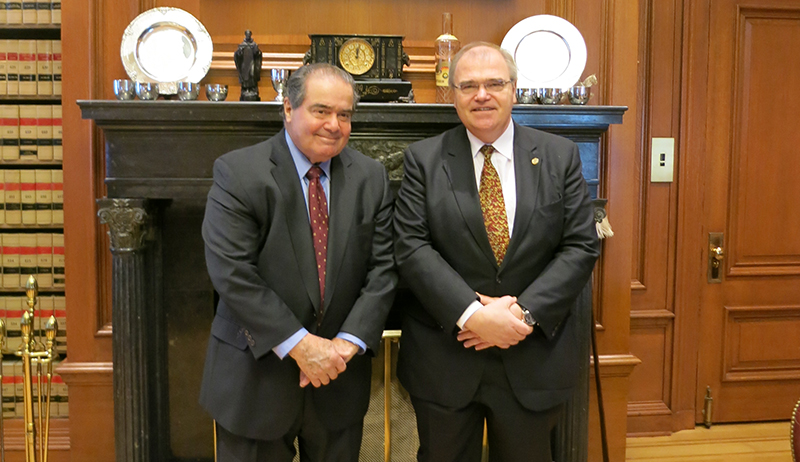 Minister Brandstetter with Justice of the Supreme Court, Antonin Scalia