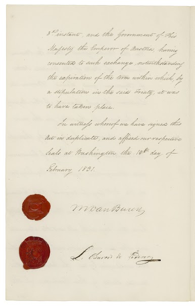 Treaty of Commerce and Navigation signed in Washington, DC, August 27, 1829
