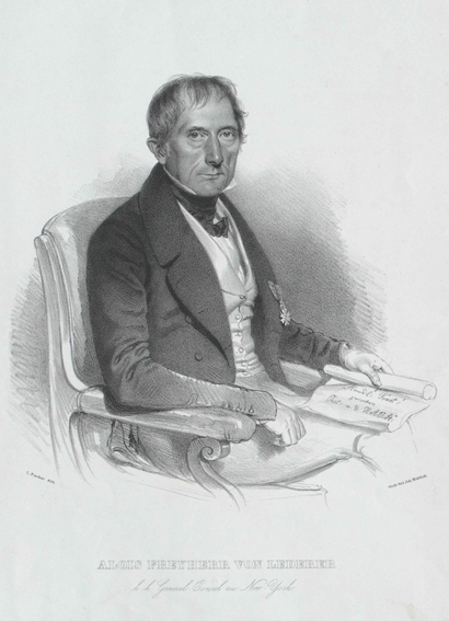 Baron von Lederer, Austrian Consul General in New York, 1820