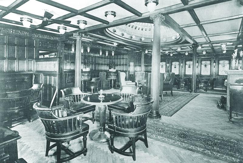 First class salon on the  Kaiser Franz Joseph I
